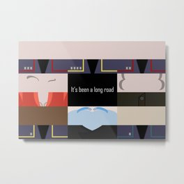 It's been a long road - Star Trek: Enterprise ENT - startrek Trektangle minimalist - trektangles Metal Print