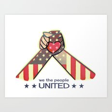 United Hands Art Print