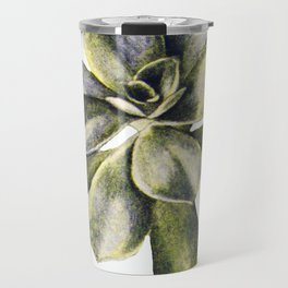 Vintage Succulent Watercolor Travel Mug