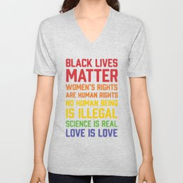 black lives matter-women is rights are human rights Unisex V-Neck