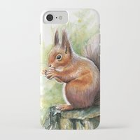 squirrel iPhone & iPod Cases featuring Squirrel by Olechka