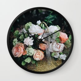 Flower Photography by Lizzie Wall Clock