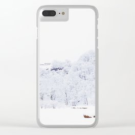 Cabin in the Snow (Color) Clear iPhone Case