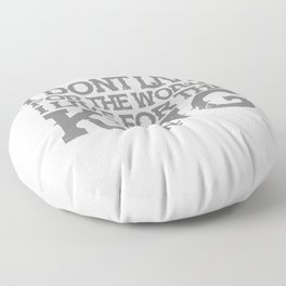 NF MUSIC QUOTES Floor Pillow