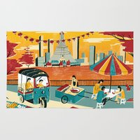 thailand Area & Throw Rugs featuring Bangkok, Thailand by Sam Brewster