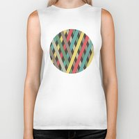 striped Biker Tanks featuring Striped by Find a Gift Now