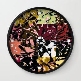 Foliage Patchwork #6 Wall Clock
