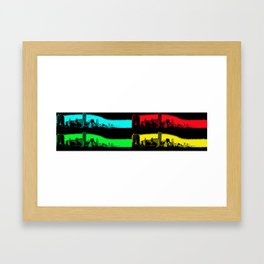 Miami Popart Panorama Framed Art Print