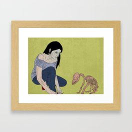 do not touch dead animals - dog Framed Art Print
