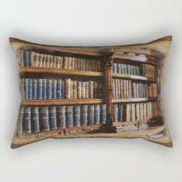 Knowledge - Antique Books on History & Law Rectangular Pillow