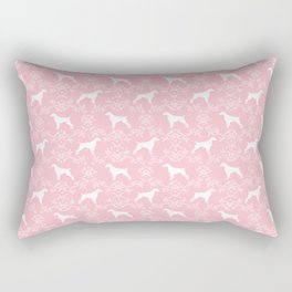 Brittany Spaniel dog breed floral silhouette dog gifts spaniel lovers Rectangular Pillow
