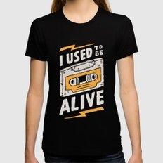 Alive Black Womens Fitted Tee LARGE