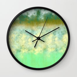 Blue and Greens Pastel Wall Clock