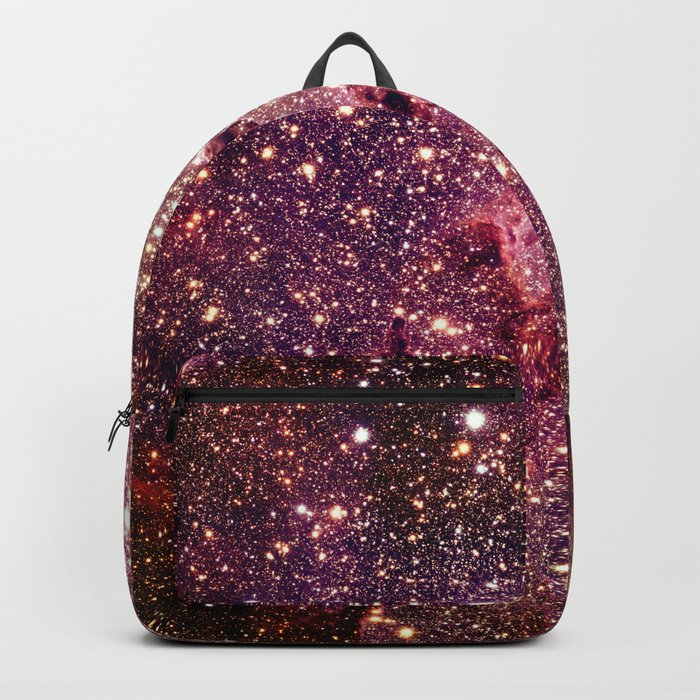 Galaxy : Eagle Nebula Mauve Burgundy Purple Gold Backpack