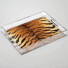 Faux Siberian Tiger Skin Design Acrylic Tray