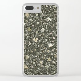 Flourished pattern Clear iPhone Case