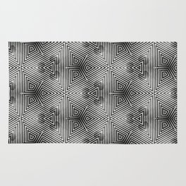 It's Alive! Black and White Op-art Rug
