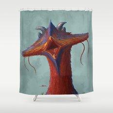 Beak portrait Shower Curtain