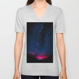 Electric Desert Starry Night Unisex V-Neck