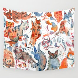 they are purring Wall Tapestry