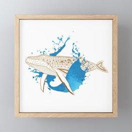 Whale Splash Framed Mini Art Print