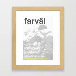 In Memoriam: Ingmar Bergman Framed Art Print