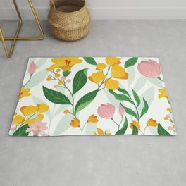 Fabulous colorful floral Rug