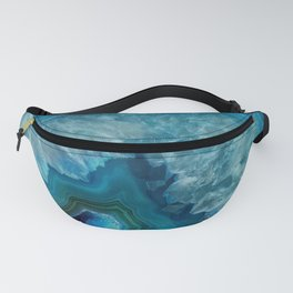Blue agate marble faux druse crystal quartz gem gemstone geode mineral stone photograph hipster Fanny Pack