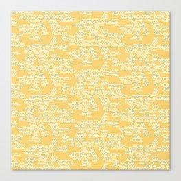 Modern Geometric Triangles - Yellow Canvas Print