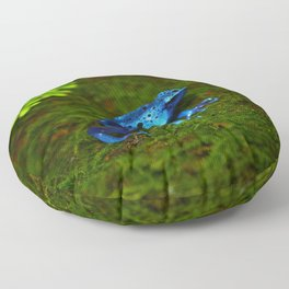Blue Poison Dart Frog Floor Pillow