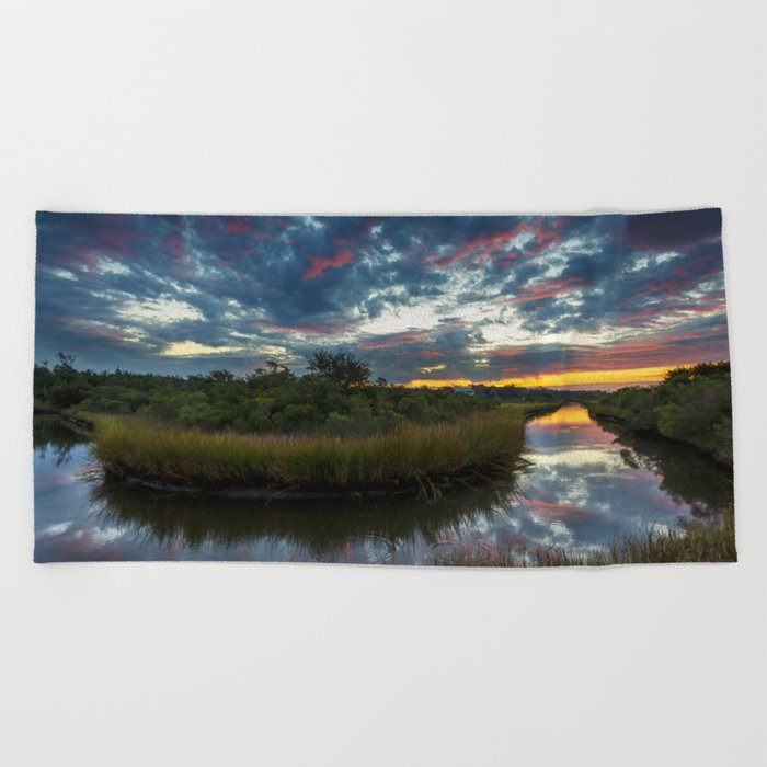 Mississippi Coastal Sunrise Beach Towel