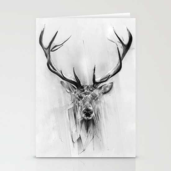 Red Deer Stationery Cards