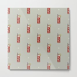 Mixed Pattern - Icon Prints: Drinks Series Metal Print