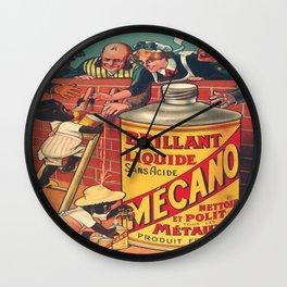 Vintage poster - Brilliant Liquide Mecano Wall Clock