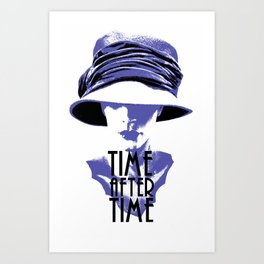 Time After Time Bleu Art Print