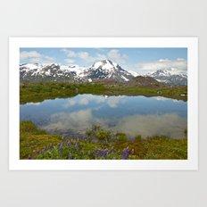 Alpine Pond Art Print