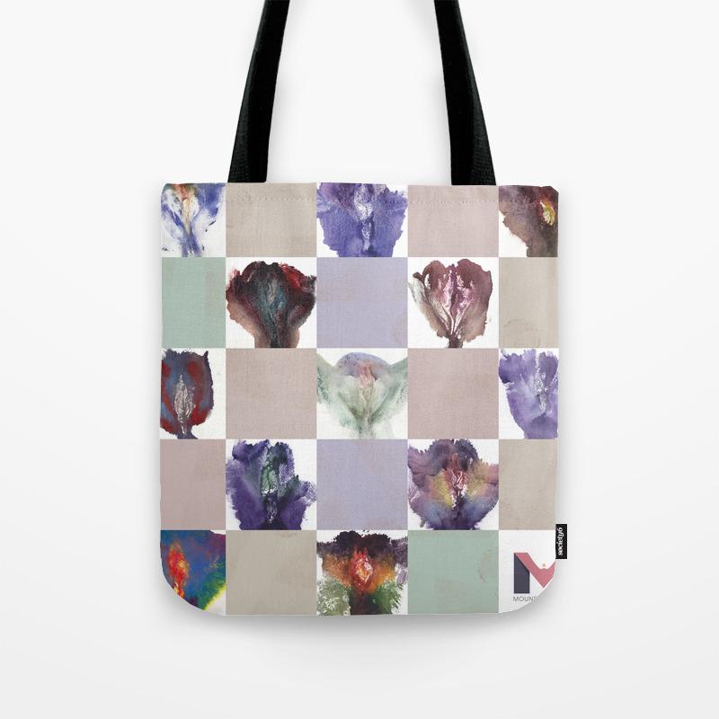 Portrait Quilt Tote Bag