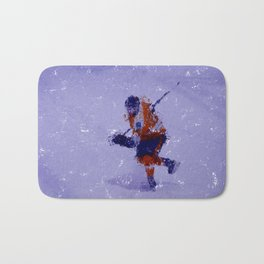 Eyes on the Prize - Ice Hockey Player Bath Mat