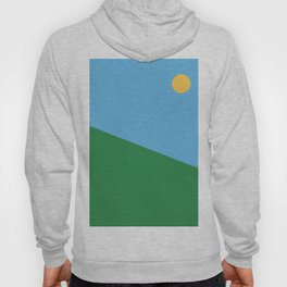 Minimal countryside landscape Hoody