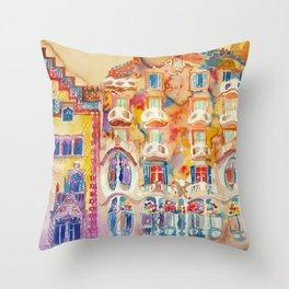 Casa Batllo Throw Pillow