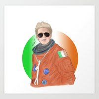 niall horan Art Prints featuring Niall Horan by _ARTISTAGRAM_