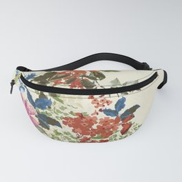 Painterly Floral Fanny Pack