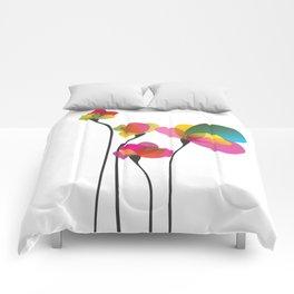 Abstract summer wildflowers Comforters