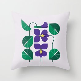 Blue Violet Throw Pillow