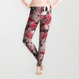 Floral and Flemingo III Pattern Leggings