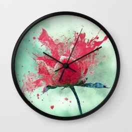 Waiting for Spring Wall Clock