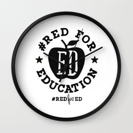Red For Education Wall Clock