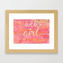 It's a baby girl Framed Art Print