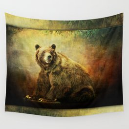 Grizzly Bear in Morning Sun Wall Tapestry