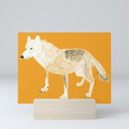 Totem white wolf nubilus Mini Art Print